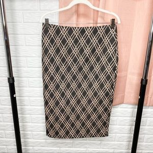 New York & Company High Waisted Midi Pencil Skirt